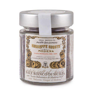 "Giuseppe Giusti - Sale Bianco Di Sicilia con ""Aceto Balsamico di Modena IGP"" - White Salt of Sicily with ""Balsamic Vinegar of Modena"""