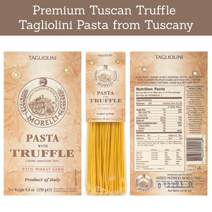 Nutrition Facts for Pastificio Morelli Tagliolini Pasta with Truffle & Wheat Germ