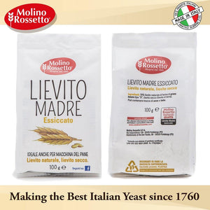 Molino Rossetto - Lievito Madre Essiccato - Italian Dried Mother Yeast - 3.5oz (100g)
