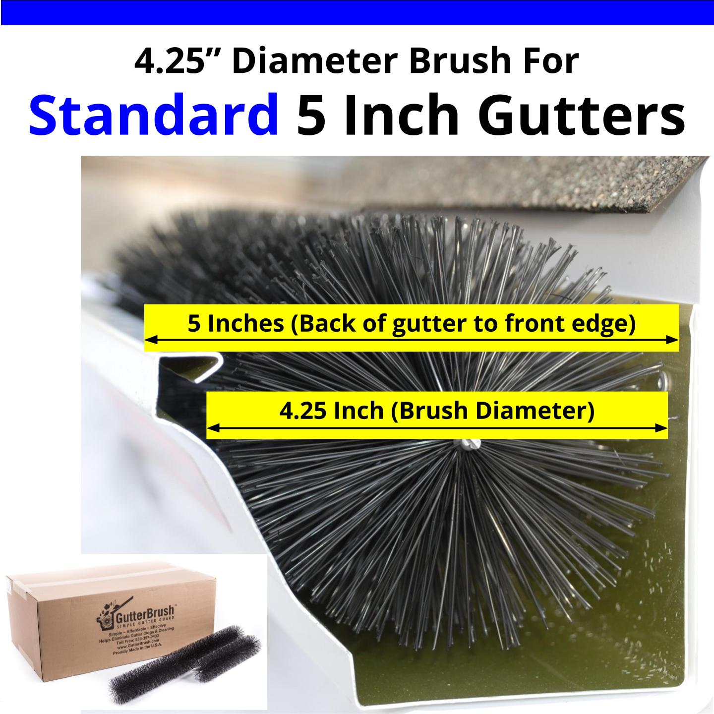 Leaf Filter Gutter Brush For Standard 5 Inch Rain Gutters