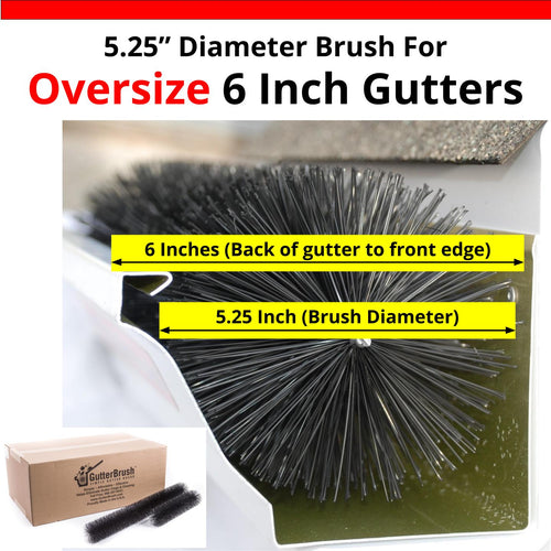 Oversize 6 Inch Gutters Gutter Brush Leaf Guard