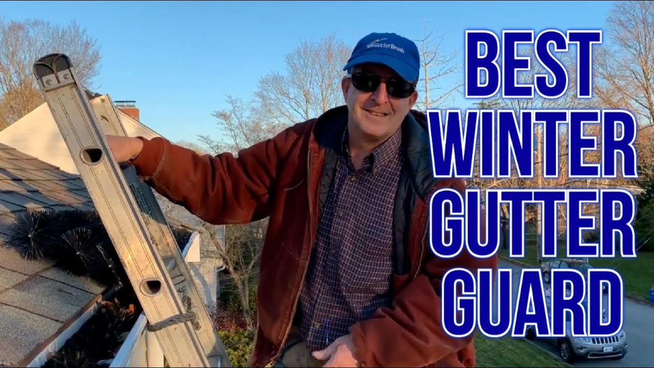image shows best winter gutter guard for cold climates