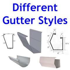 Picture of multiple different gutter styles for various gutter guard products
