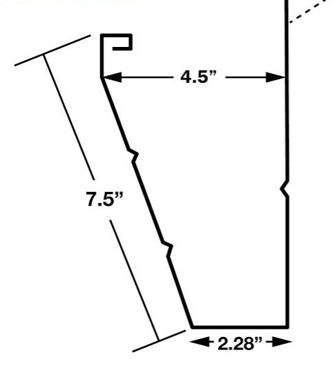 Typical Fascia Gutter showing Measurements