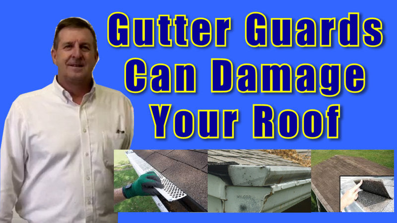 gutter screens and gutter covers can cause roof problems and roof damage