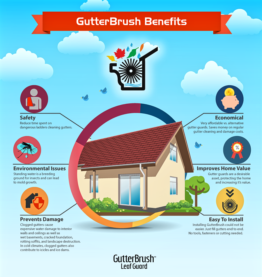 Gutter Guard Benefits Infographic