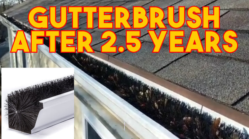 Gutterbrush results after 2.5 years with no gutter cleanings