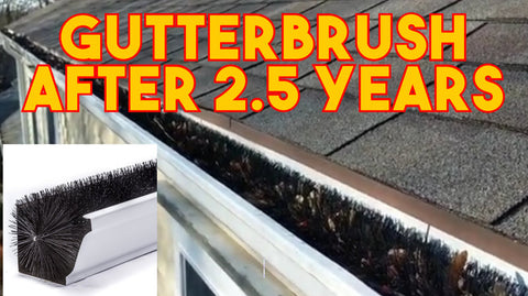 Results video shows gutter guard results after 2.5 years of leaves on the gutter