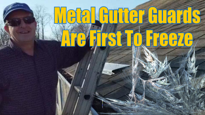 Metal gutter guards cause gutter ice problems