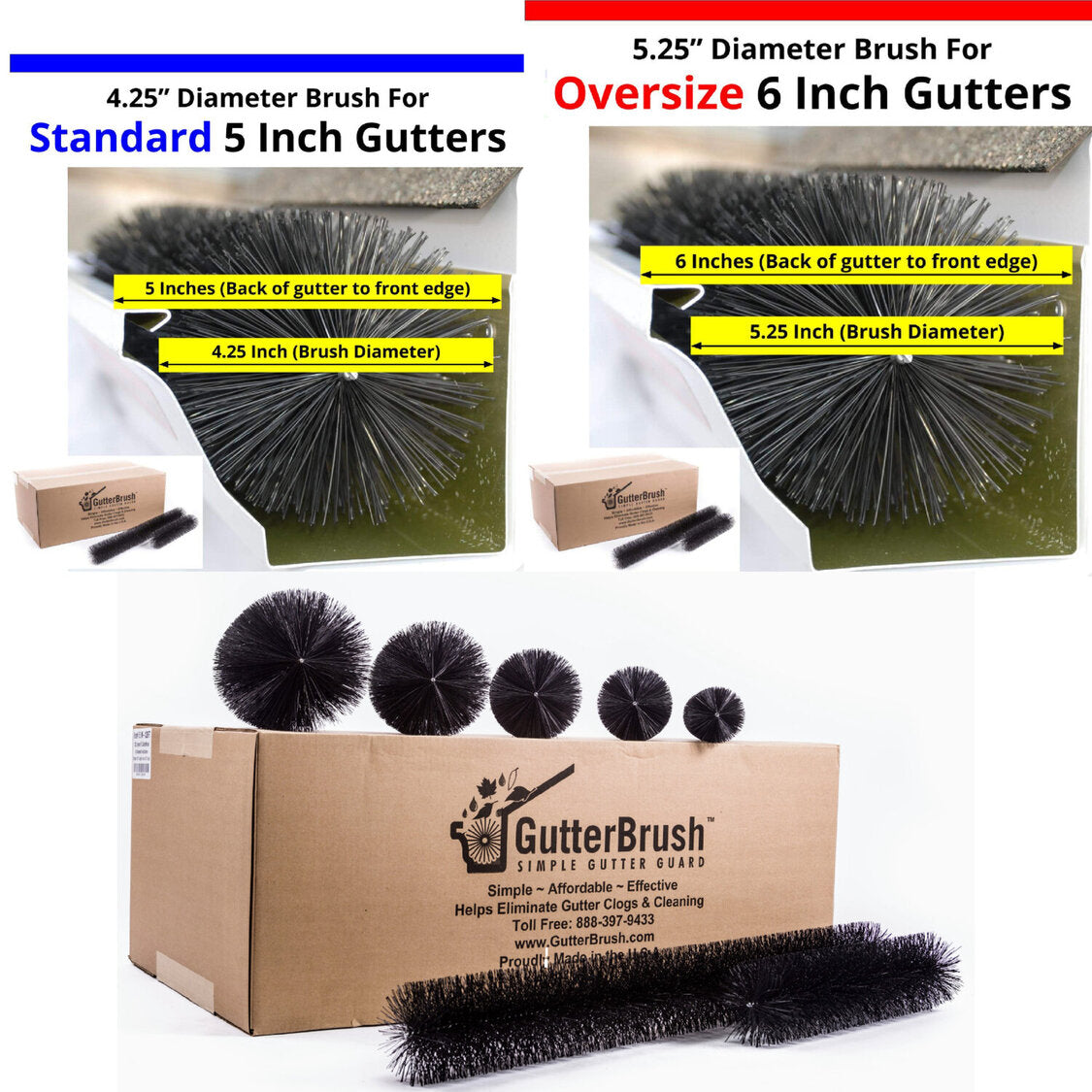 Gutter Guard Size Options GutterBrush Leaf Guard
