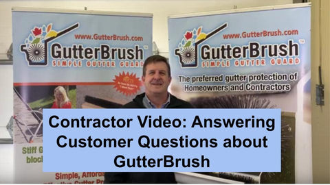 Contractor thumbnail, answering GutterBrush customer questions