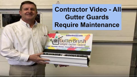 Contractor Video title slide, all gutter protection devices require maintenance
