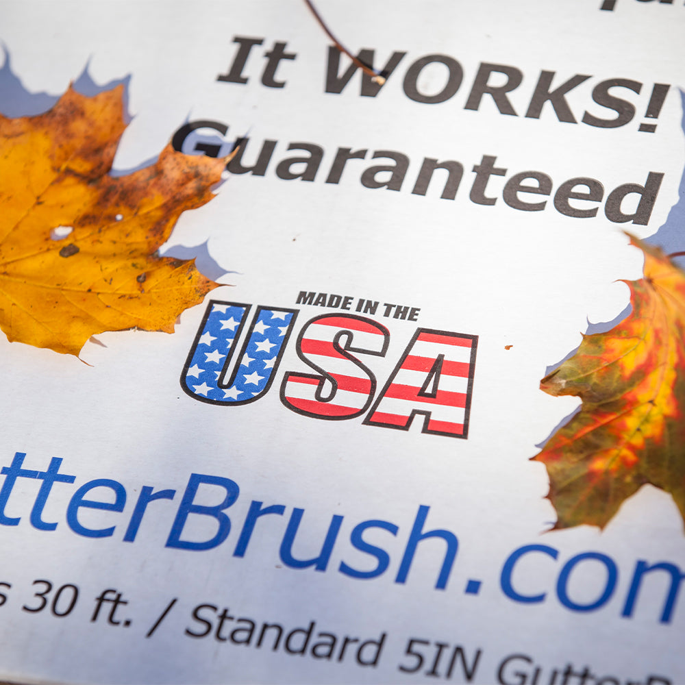 GutterBrush Made In USA - Guaranteed Performance