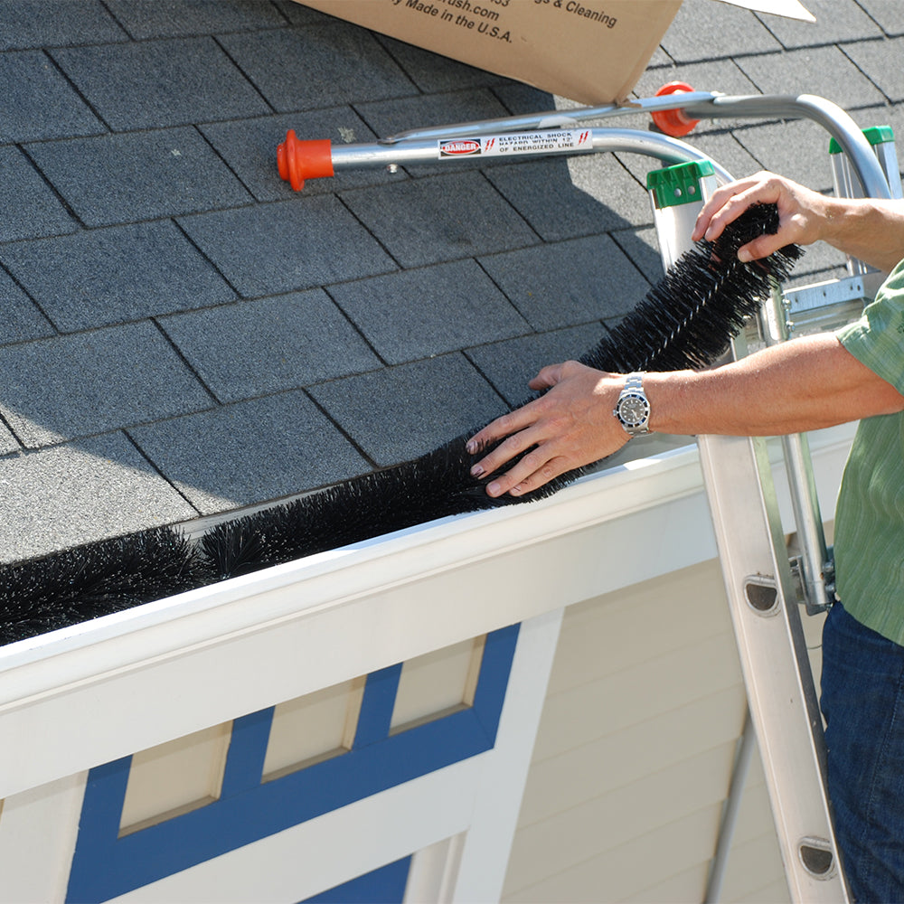 Gutter Brush Easy Installation - Ladder-Max Standoff Stabilizer