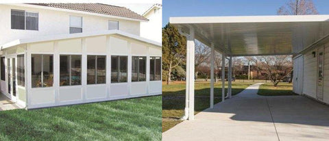 gutter guard for patio room, awning and carport gutter