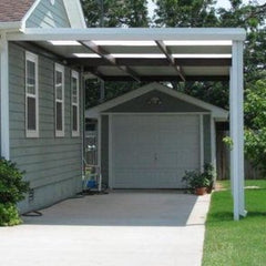 carport gutter clog, difficult to fit with a gutter guard