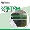GutterBrush Leaf Guard - 7 Inch Commercial Gutters - 45 Ft. Pack - GutterBrush