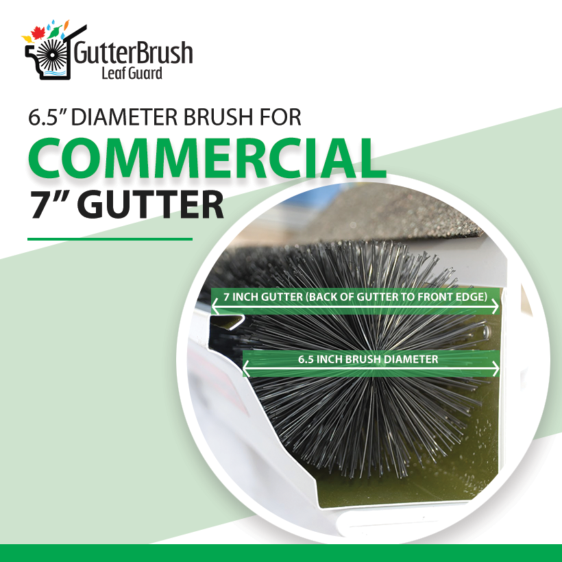 6.50 Inch Diameter GutterBrush For 7 Inch Commercial Gutters - 45 Ft. Pack - GutterBrush