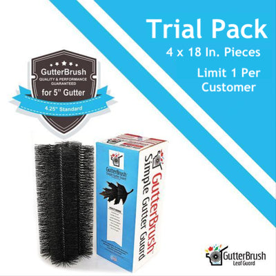 Trial Pack - 4 x 18 In. Sections For 5 In. Standard Gutters (6 Ft. Total) - GutterBrush
