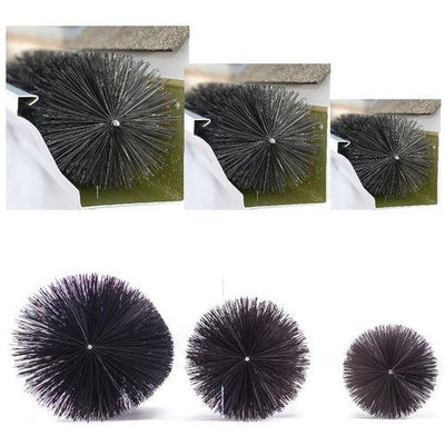 Commercial Sample Pack - 8.00, 6.50, 5.25 Inch Diameter Brushes (6 Inch Sections) - GutterBrush