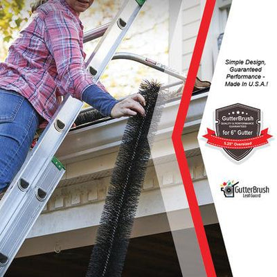 12 Ft. Gutter Guard Pack - 6 In. Oversize (5.25 In. Dia.) - GutterBrush