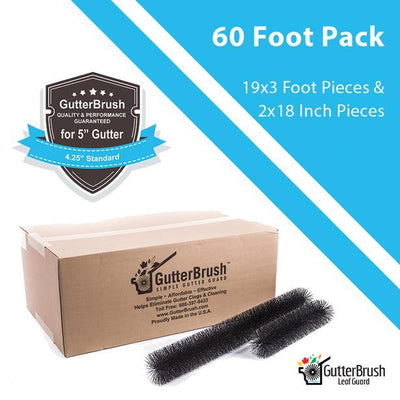 60 Ft. Gutter Guard Pack - 5 In. Standard (4.25 In. Dia.) - GutterBrush