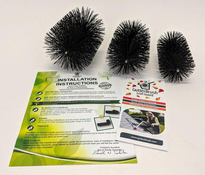Free - Residential Sample Pack - 5.25, 4.25, 3.25 Inch Diameter Brushes (Just Pay $7.95 Postage) - GutterBrush