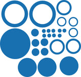 Rings and Circles Vinyl Decal