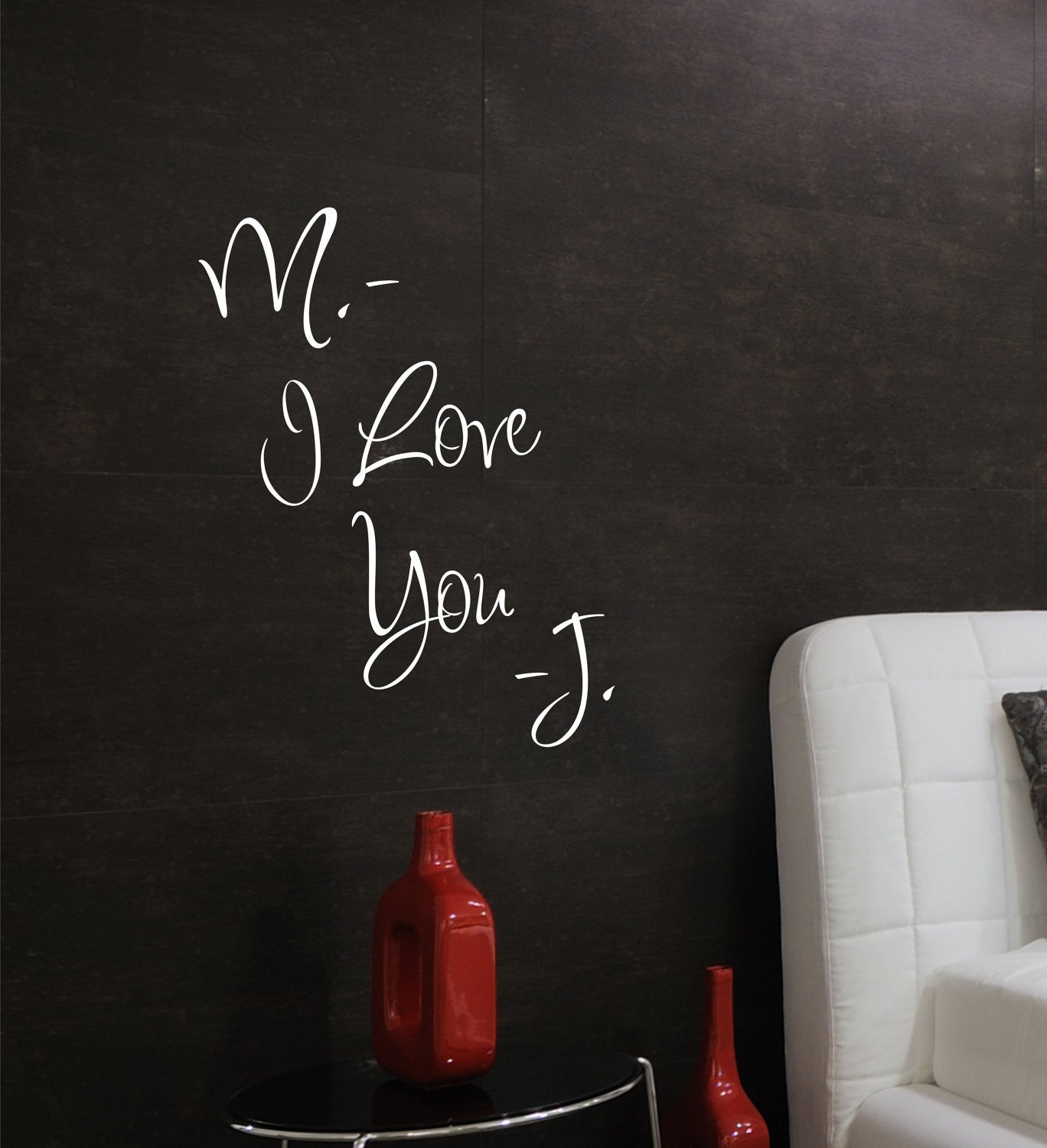 Personalize  I Love You  Bedroom Wall Decals