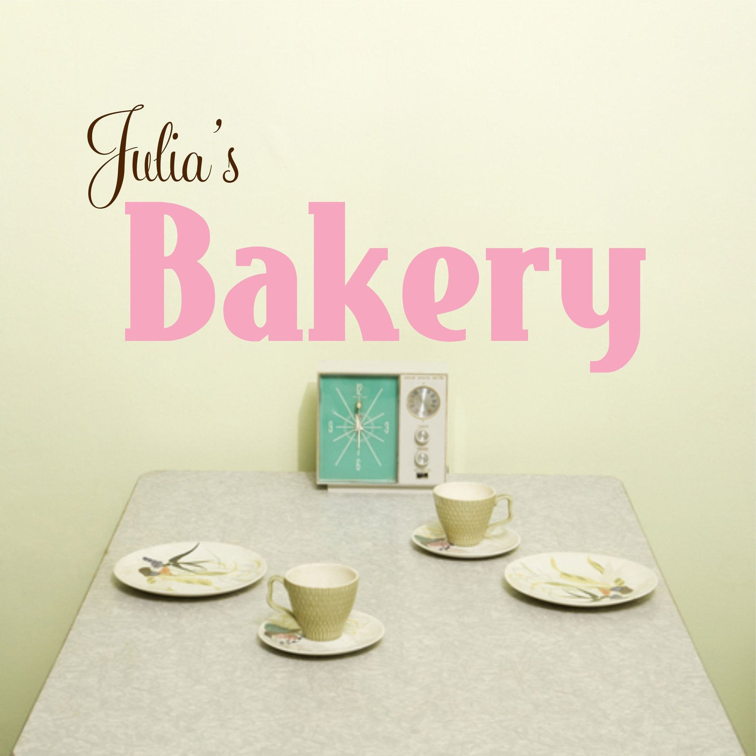 Personalized Bakery Wall Decal