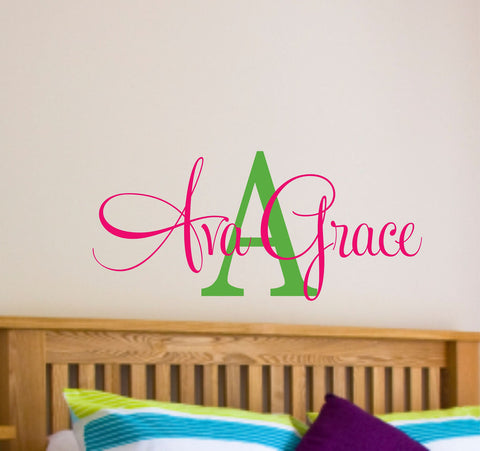 Personalized Name and Initial Vinyl Decal