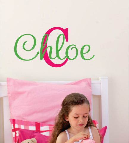 Girls Personalized Name Wall Decals