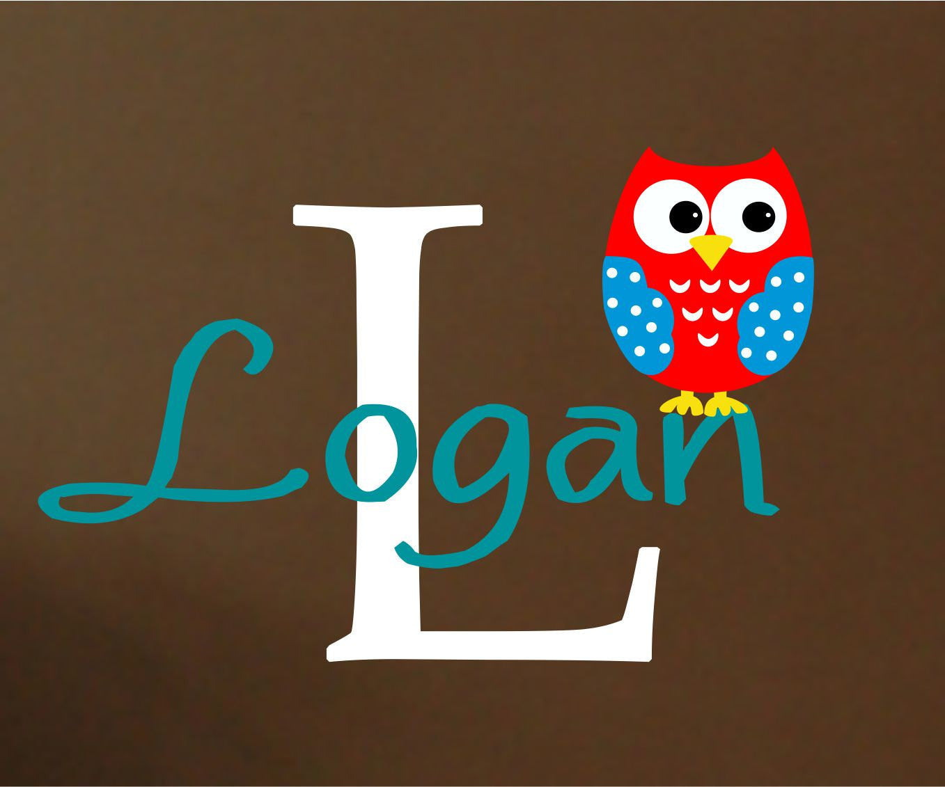 Boys Owl Name Wall Decal