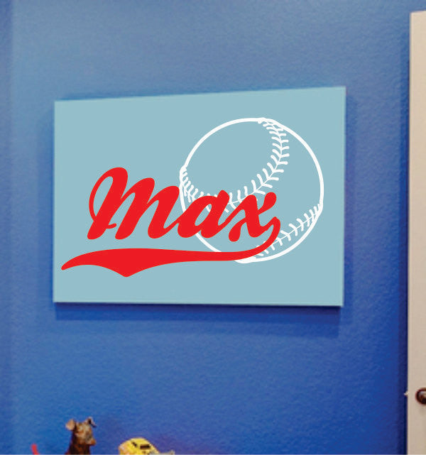 Baseball Decal - Personalized Name