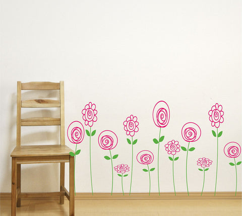 Doodle Flower Wall Decals