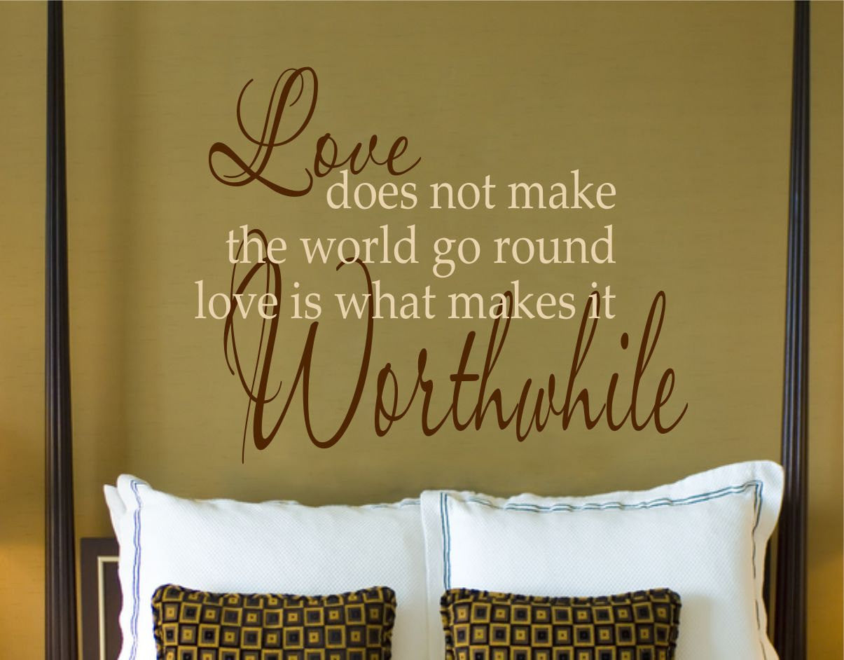 Bedroom Wall Decal - Love Decals