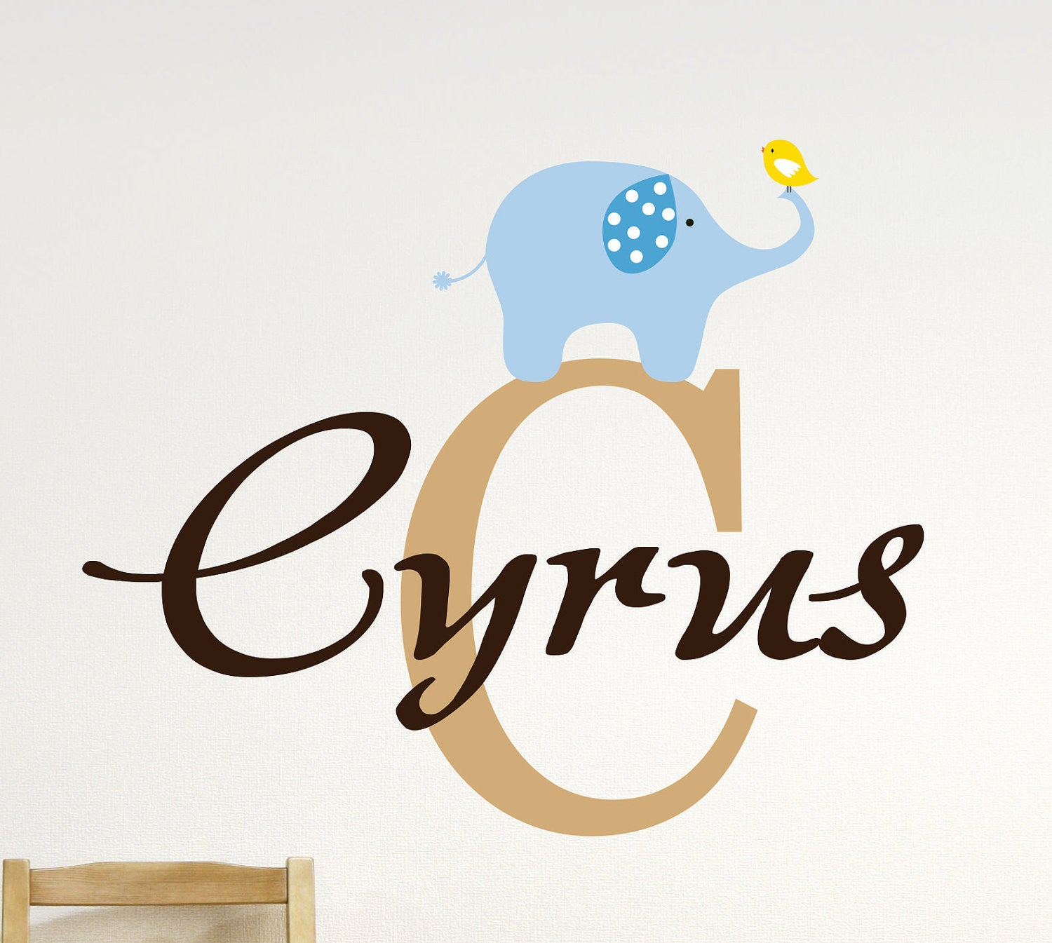 Boys Elephant Wall Decal