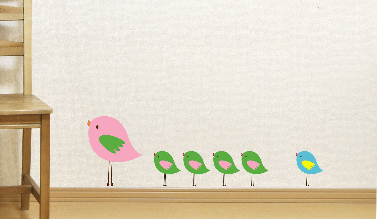 Bird Family Wall Decals