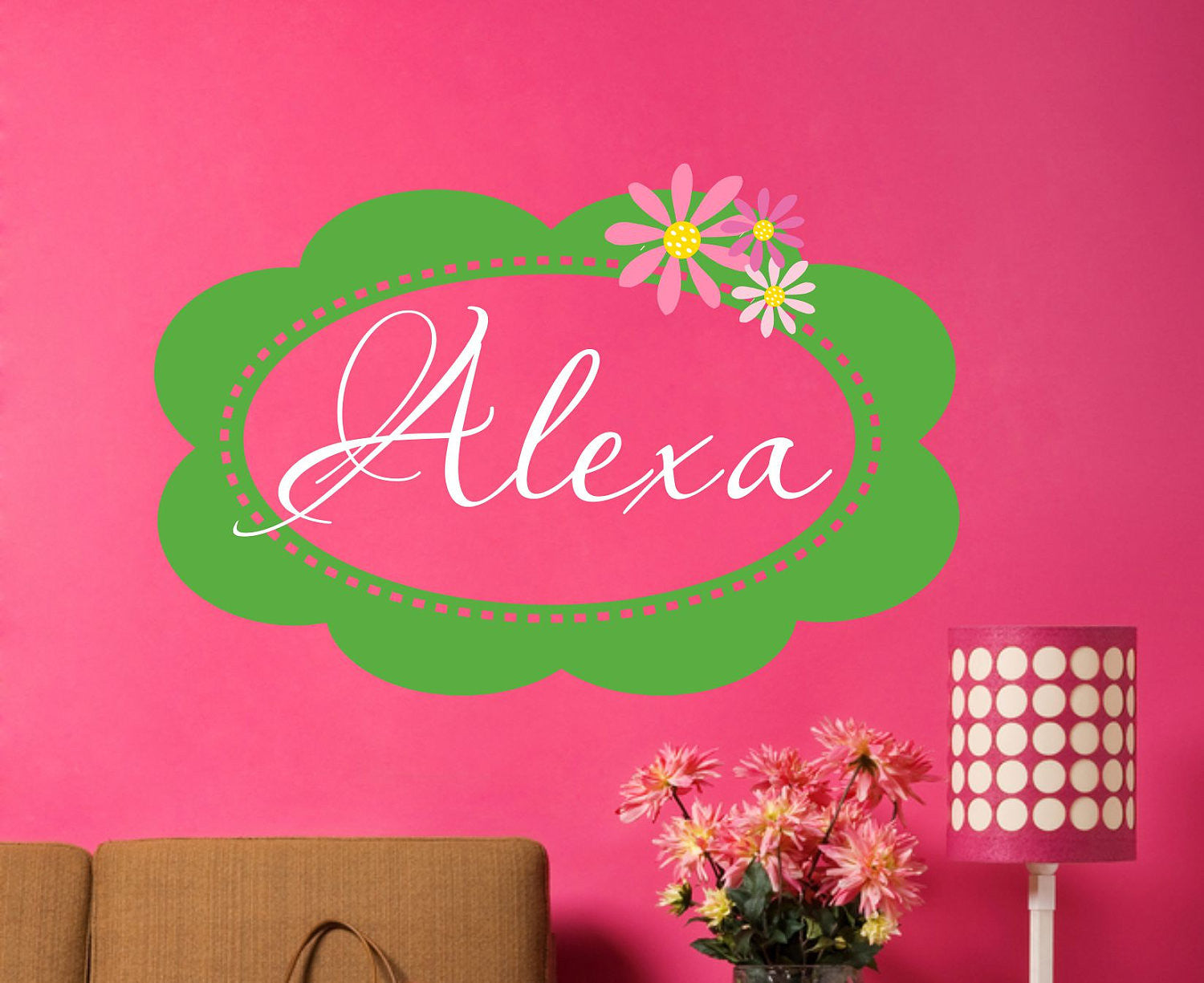 Girls Name Vinyl Wall Decal