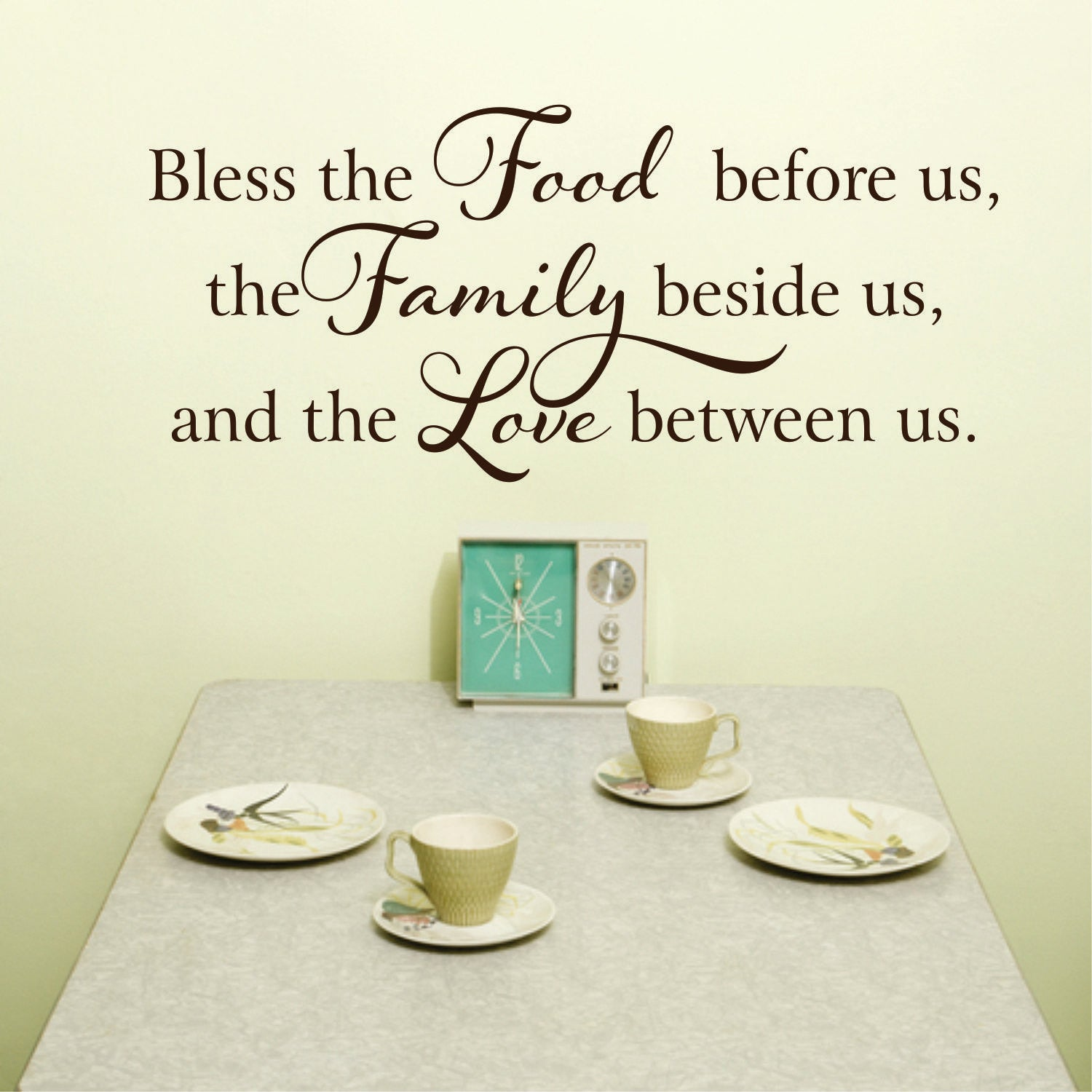 Kitchen Wall Decal  - Bless this food.