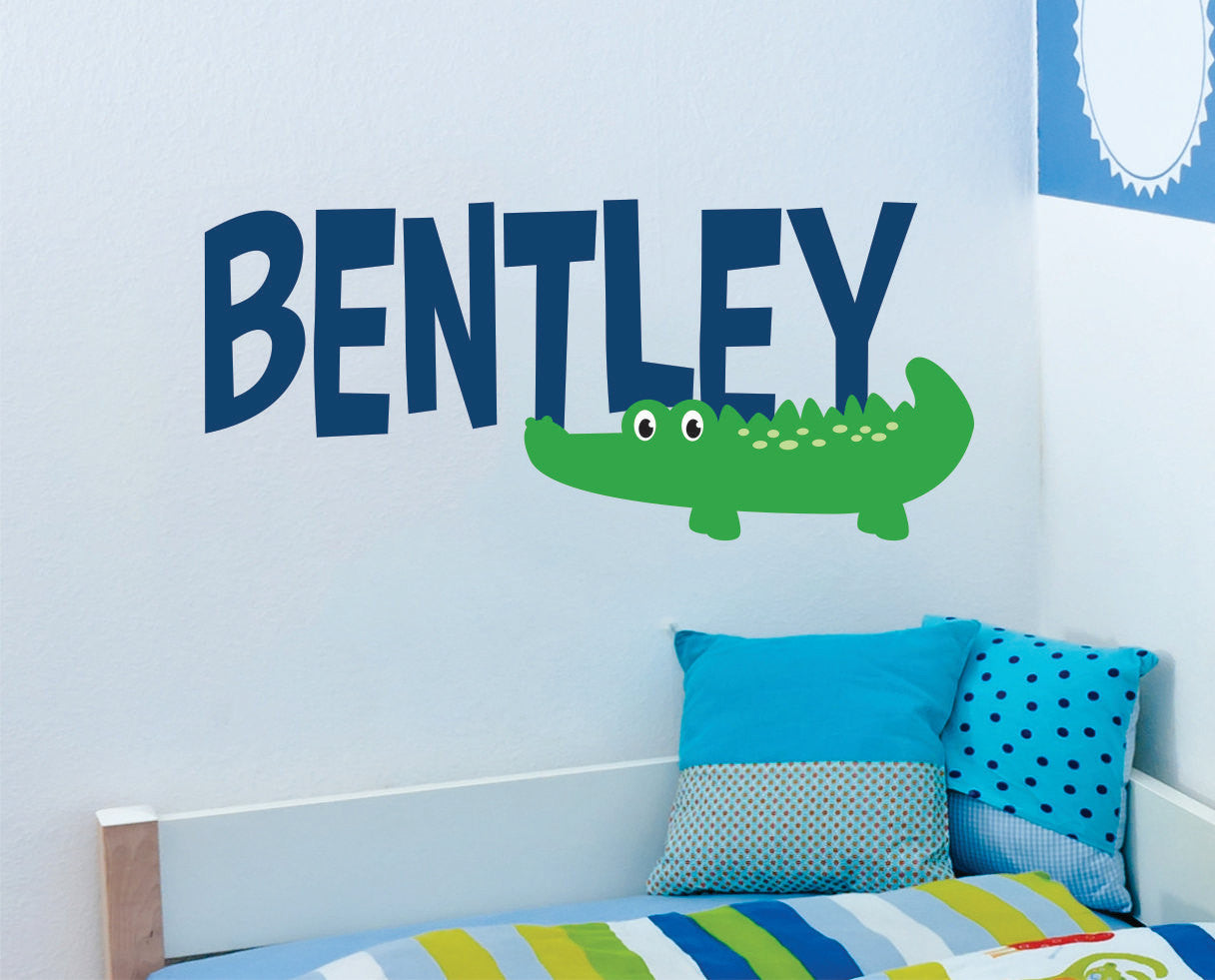 Alligator Wall Decal with Name
