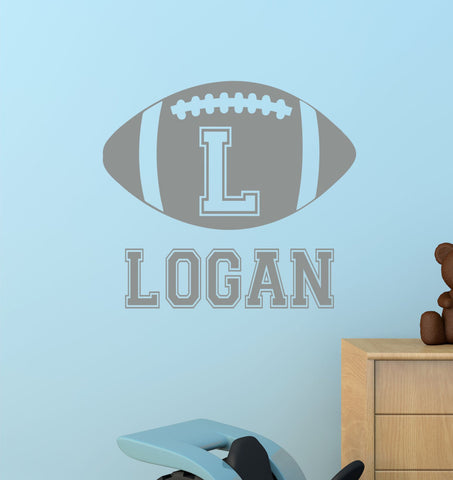 Football Name Wall Decal