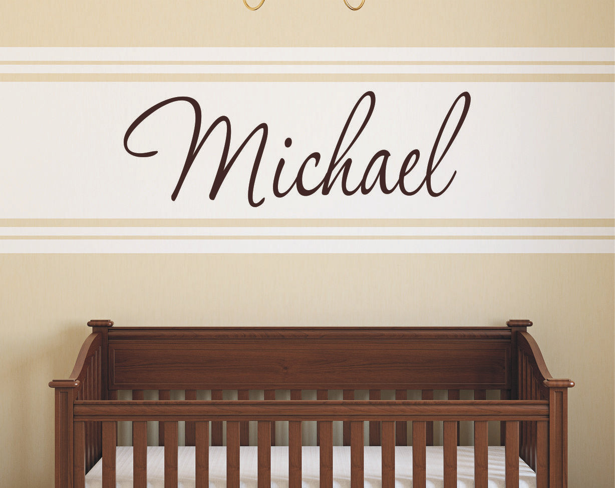 Personalized Name Wall Decal for Boys