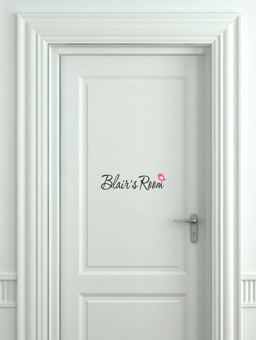 Girls Room Bird Door Decal