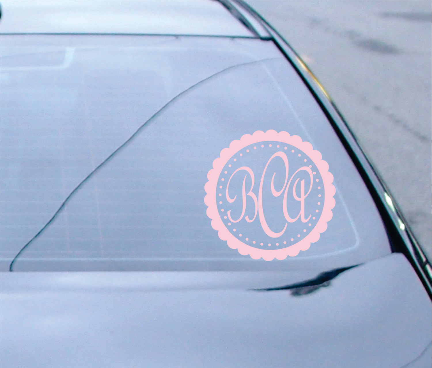 Scalloped Monogram Vinyl Decal