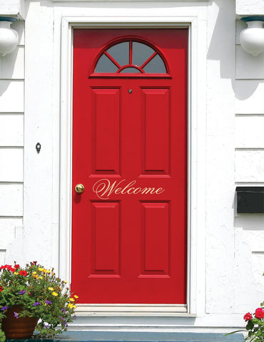 Welcome Vinyl Lettering for Door