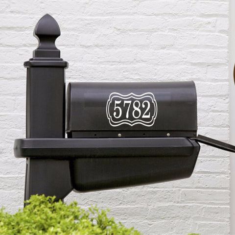 Mailbox Numbers Decal