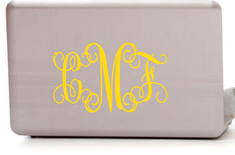 Monogram Laptop Decal