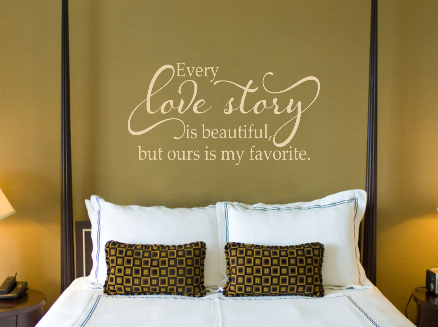 Every Love Story is Beautiful Vinyl Wall Decal