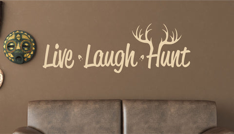 Hunting Decor - Live Laught Hunt Vinyl Wall Decal
